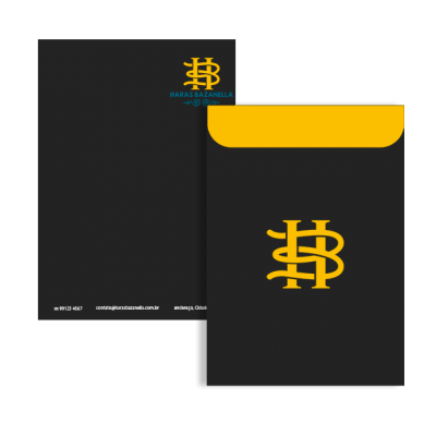Identidade Visual Haras Bazanella - Papelaria